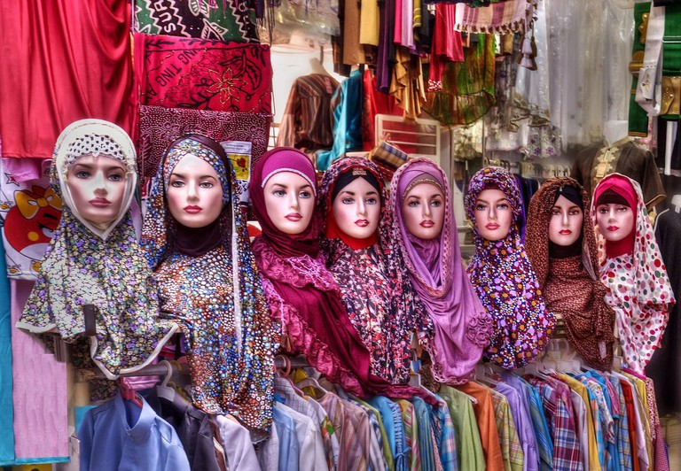 Muslim clothing at Ampel Market