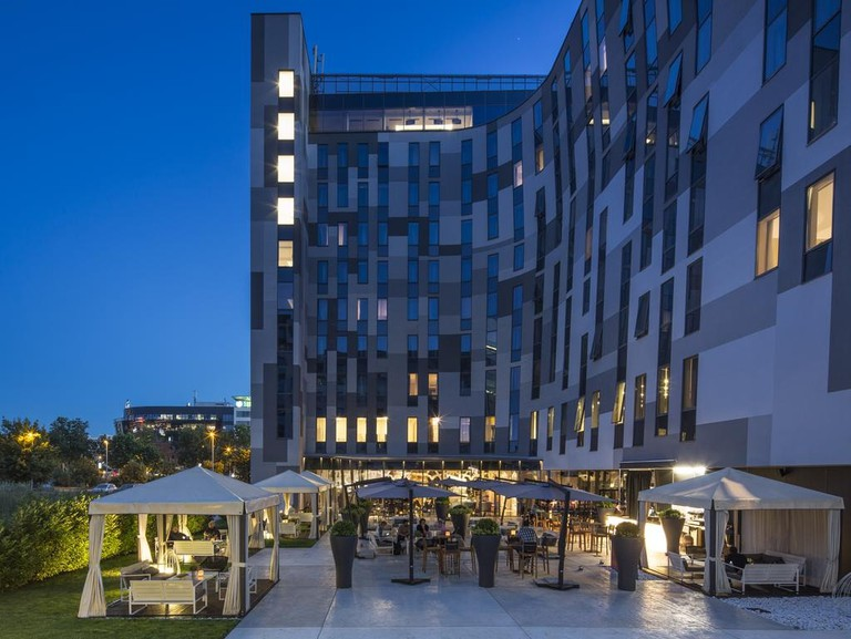 The unusual Falkensteiner Hotel in New Belgrade
