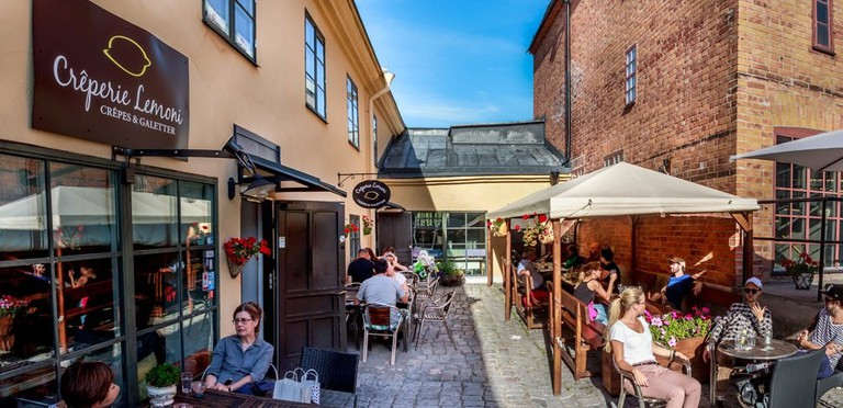 Enjoy the delightful outdoor seating area