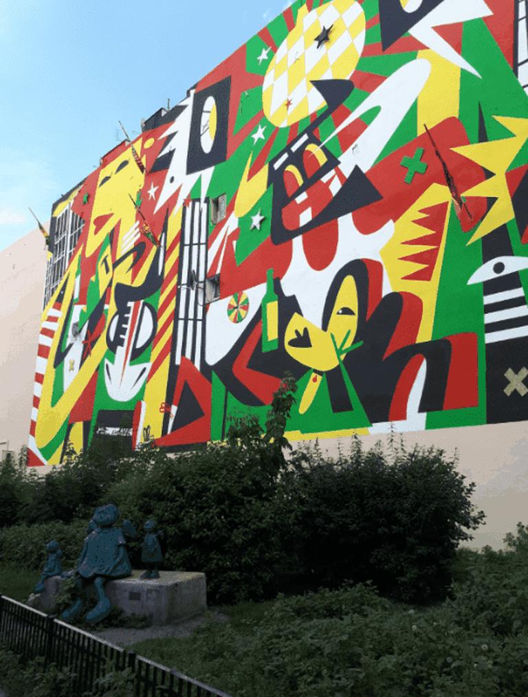 Praga Mural Jonny Blair Aleksandra Mueller