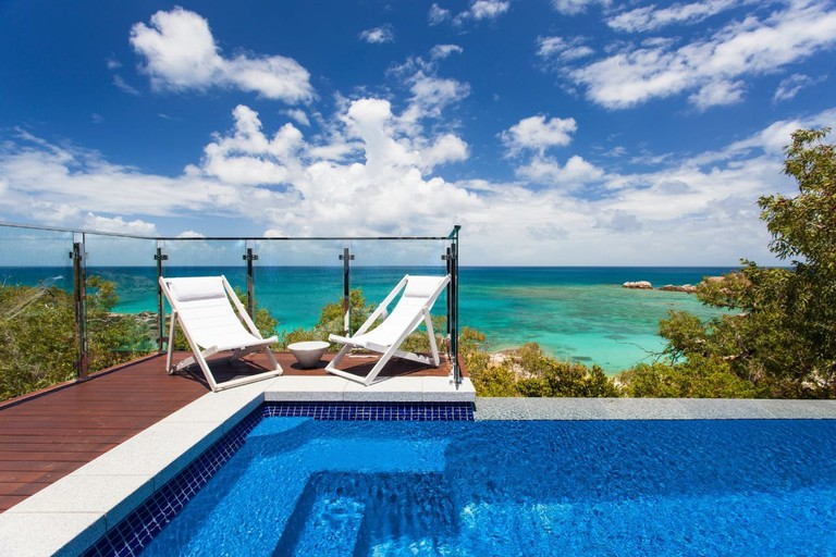 Private plunge pool at Lizard Island Resort
