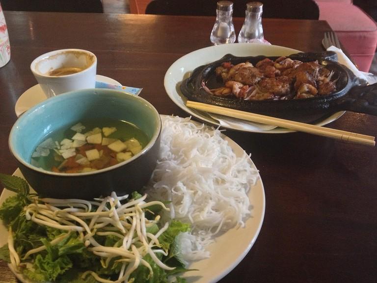 Vietnamese food and coffee