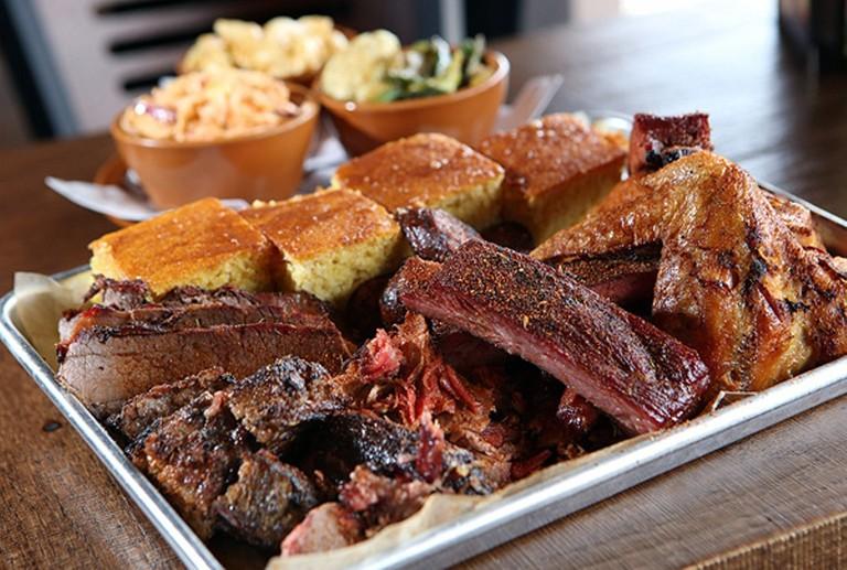 A Zeke's platter | Courtesy of Zeke's Rock 'n' Roll BBQ