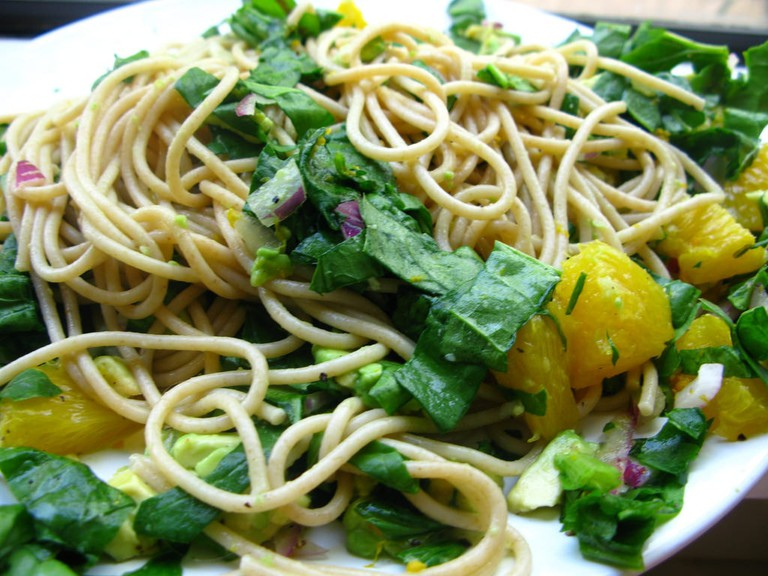 Tasty vegan pasta