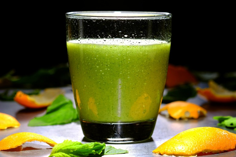 A healthy vegetable smoothie