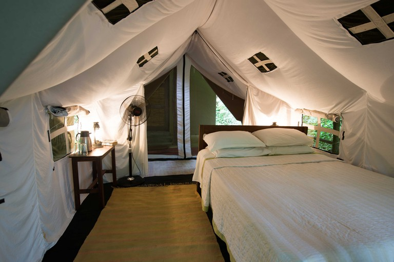 Safari tent at Tiger Tops' Tharu Lodge