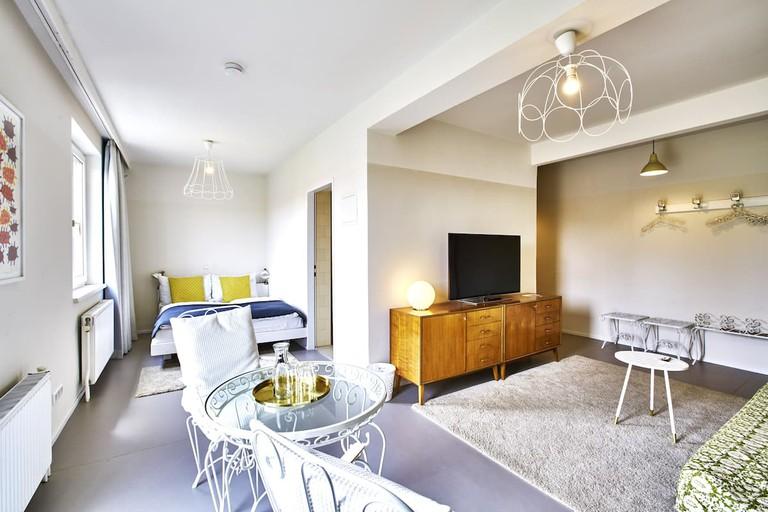 Guest room at magdas HOTEL, Vienna