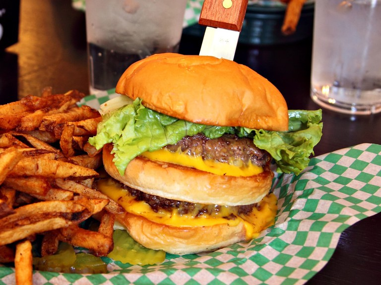The Nookie Supreme Burger with Fresh-Cut Fries