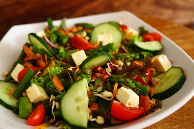 Wilde Eend veg salad