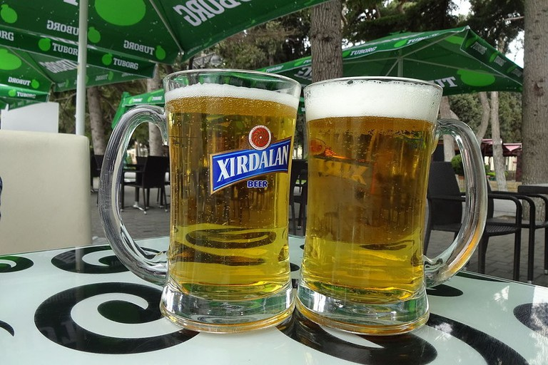 Local Azerbaijan beer can be found at almost every pub in the country