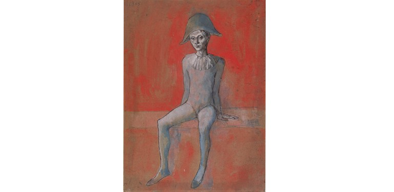 Pablo Picasso: Arlequin assis (Sitzender Harlekin), 1905