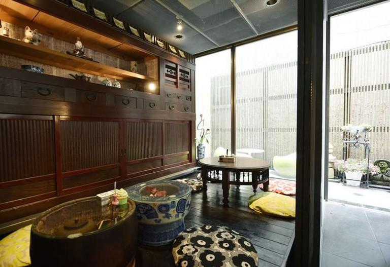 Andon Ryokan features tea corners on each floor