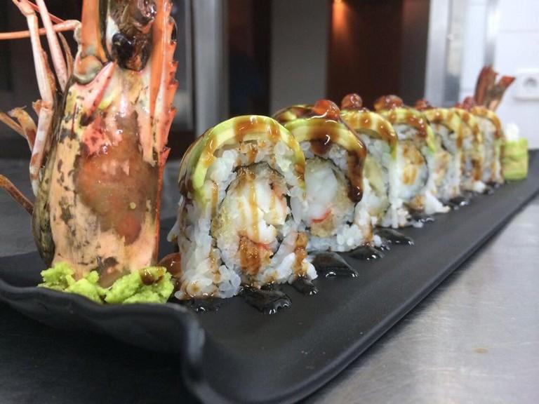 Langoustine sushi