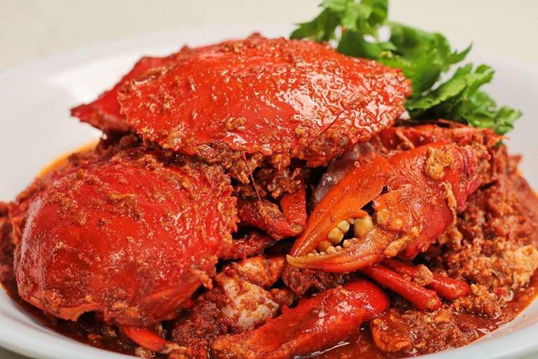 Delicious chili crab
