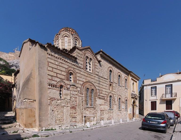 Exterior view of Agios Nikolaos Ragavas church, Athens