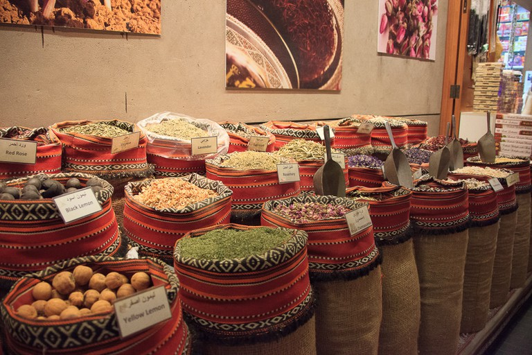 Traditional spices at the Central Market