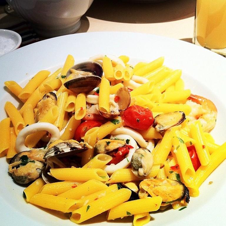 Carluccio's gluten-free seafood pasta