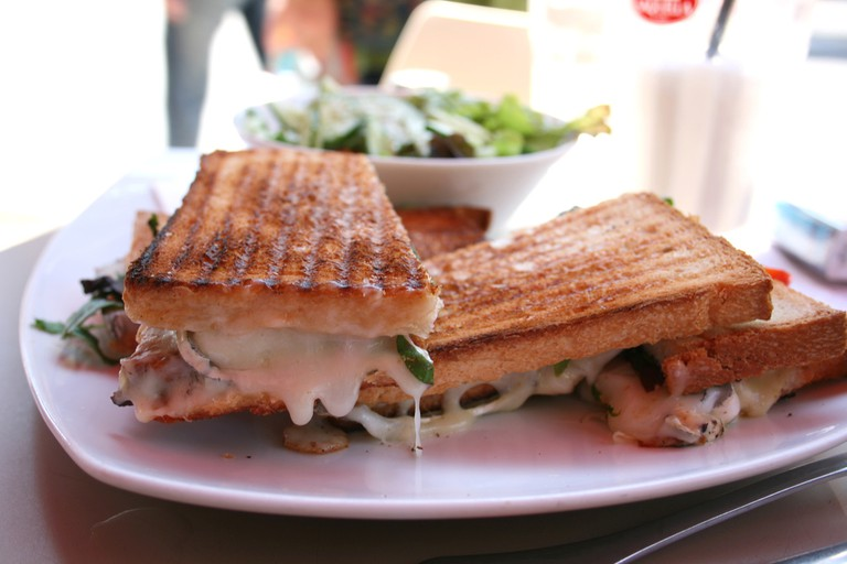 A selection of toasted sandwiches are on the menu at Bushes Bar