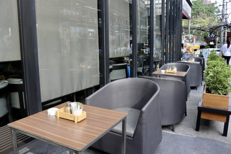 Outdoor seating at The Coffee Club