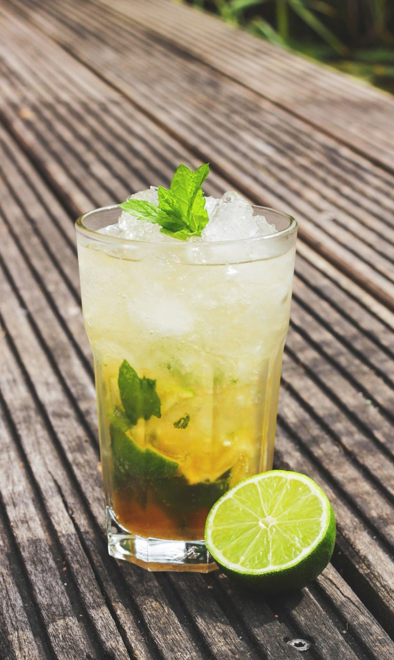 A mojito may distract you from remembering that you're not at the beach.