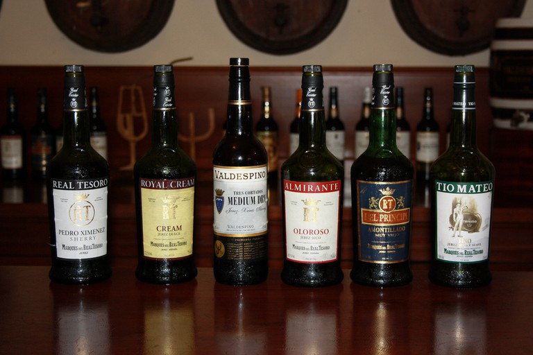 Take your pick of traditional sherries at Bar Alcazares