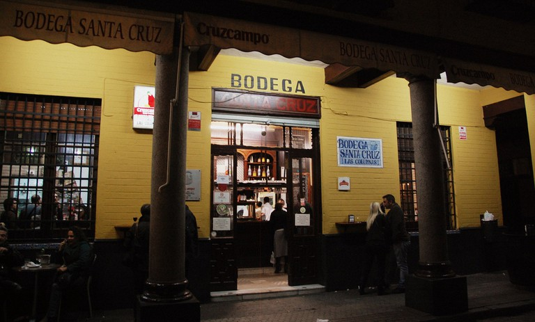 Bodega Santa Cruz is known locally as 'The Columns'