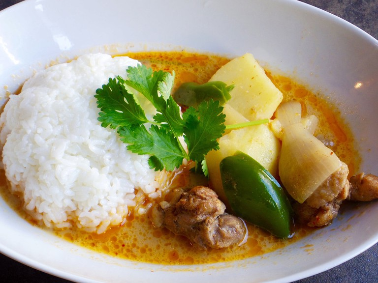 Delicious massaman curry
