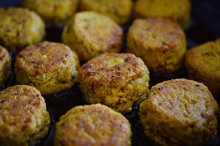 Falafel is one recipe you can expect at Estudio Vegetariano