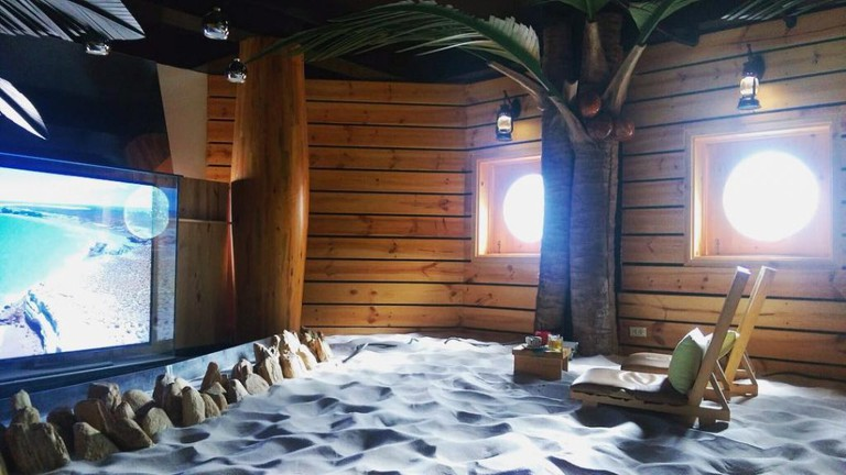 The sea-themed room at Coffee House Vietnam