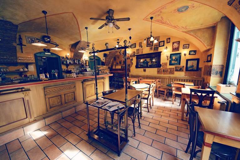 Inside of the Le Petit Café