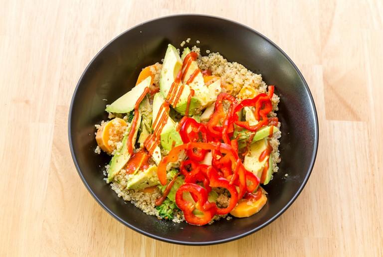 Avocado and quinoa bowl