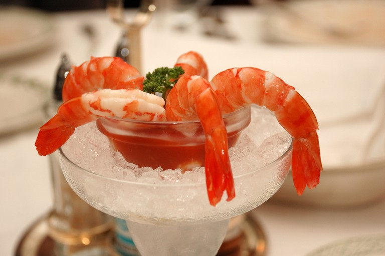 Start your meal off with Cuban shrimp cocktail