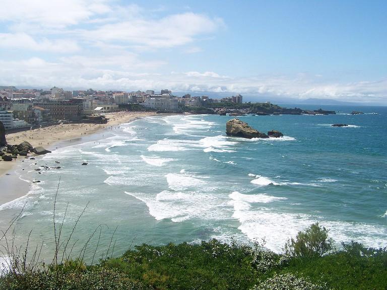 Dream-like scenery at Biarritz Grand Plage