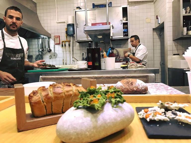 The kitchen at Riff, Valencia