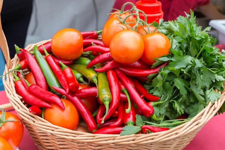 Basket of fresh & healthy produce