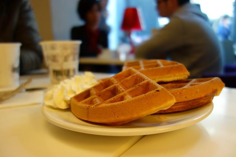 Delicious waffles at Edia