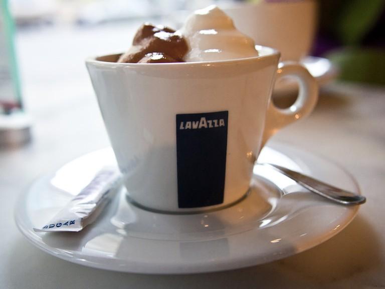 Quality Lavazza coffee drink