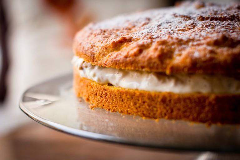 Customers love the carrot cake at La Clandestina