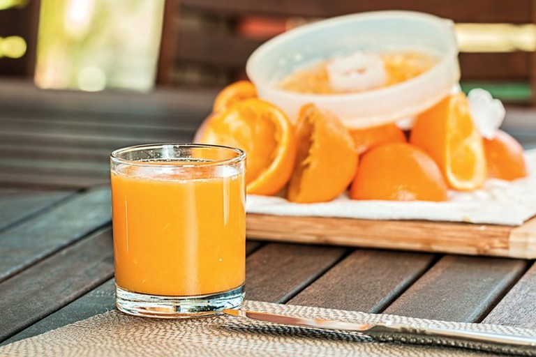 Cool off with a fresh fruit juice or smoothie at Top Coffee Shop & Juice Bar