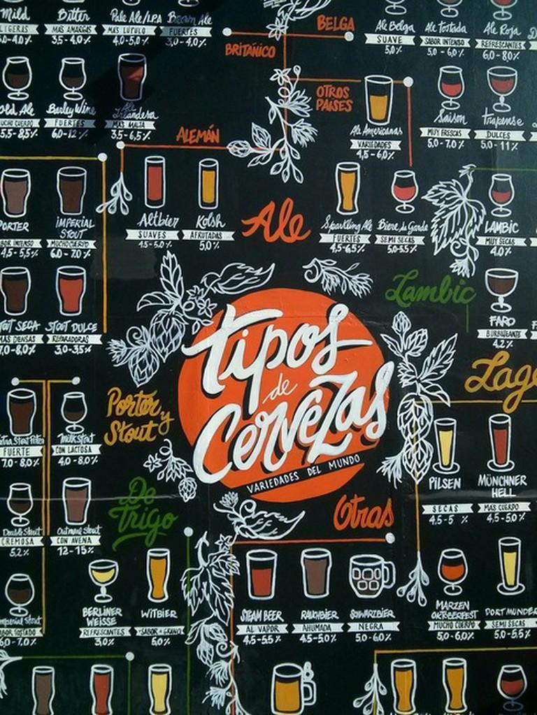 Beer List at Barsovia