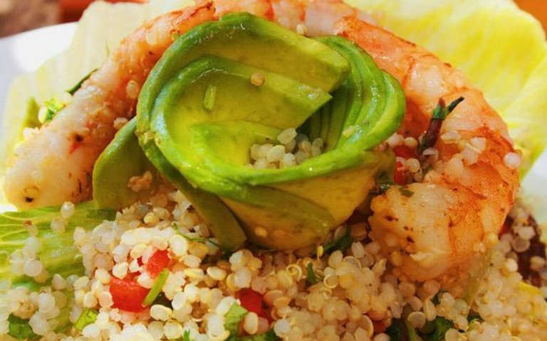 Succulent Shrimp Avocado and Quinoa