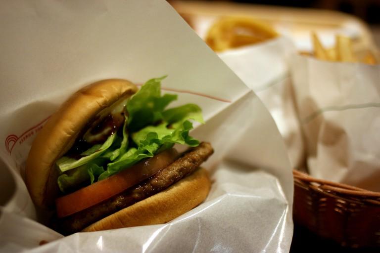 Burger set from MOS Burger