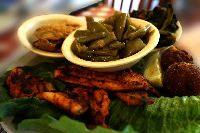 Catfish and sides