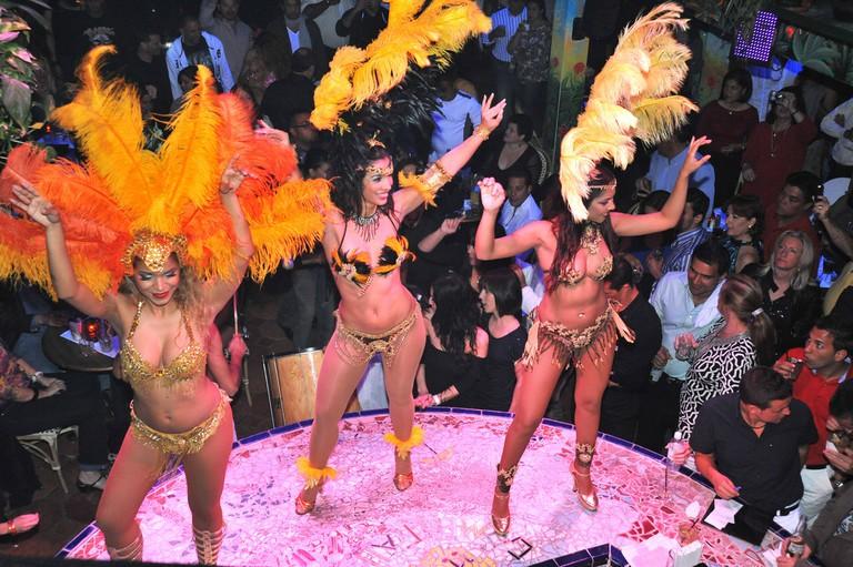 Carnival dancers at Mango's