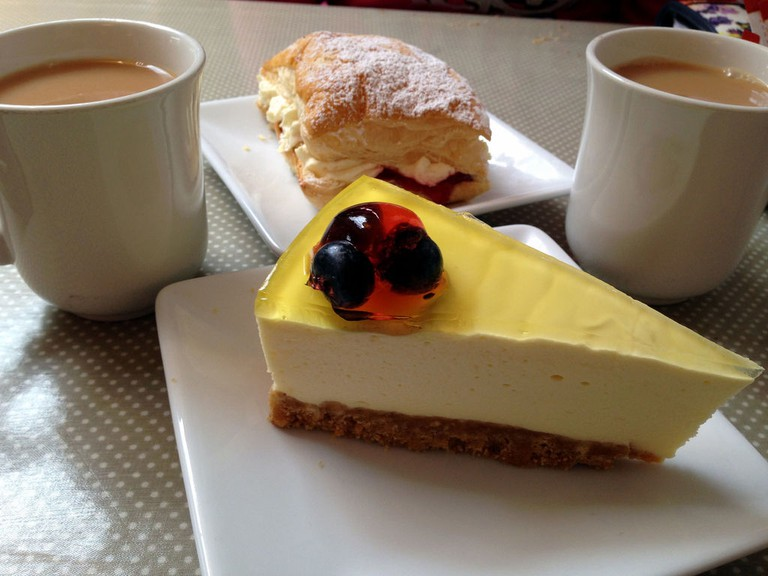 Try the decadent cheesecake at Coffee Sides