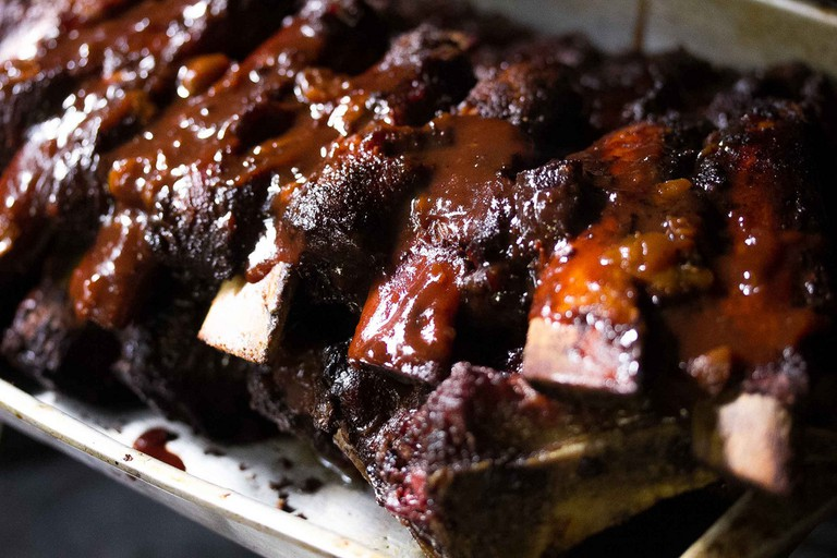 Mouthwatering glazed ribs