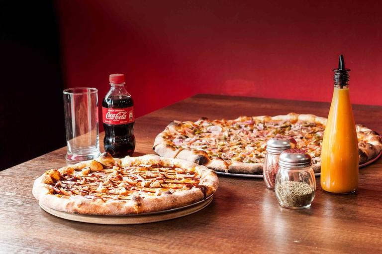 Pizza and Coca-Cola