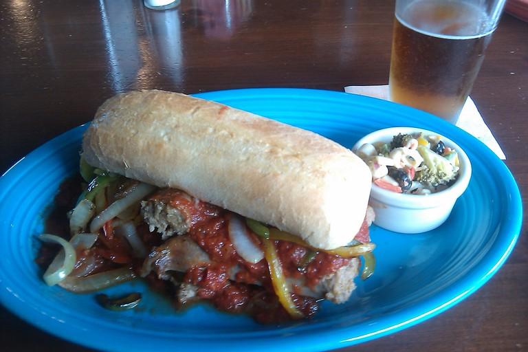 Italian Sausage Sandwich from Soho's, Charleston, WV