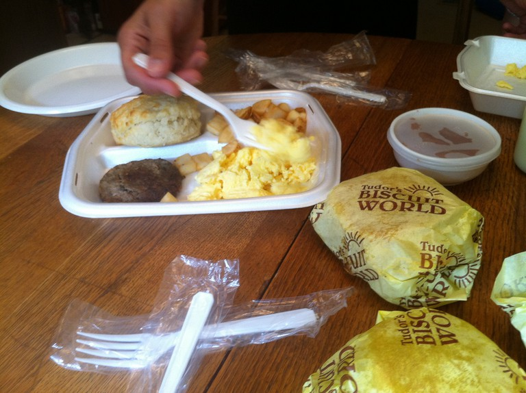 Breakfast from Tudor's Biscuit World