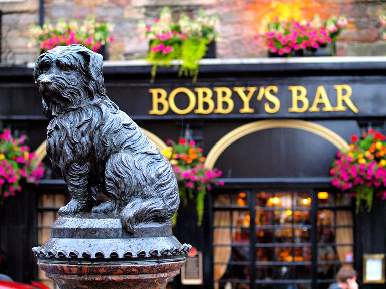 Greyfriars Bobby in Edinburgh Scotland